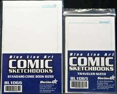 Blue Line Art Comic Sketchbooks